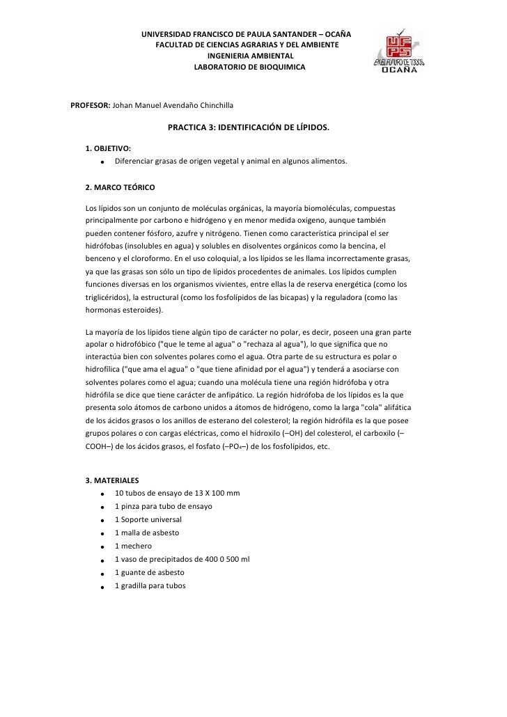 UNIVERSIDAD FRANCISCO DE PAULA SANTANDER – OCAÑA                       FACULTAD DE CIENCIAS AGRARIAS Y DEL AMBIENTE       ...
