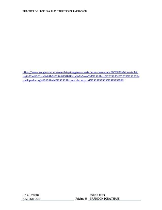 PRACTICA DE LIMPIEZA ALAS TARJETAS DE EXPANSIÓN  https://www.google.com.mx/search?q=imagenes+de+tarjetas+de+expansi%C3%B3n...