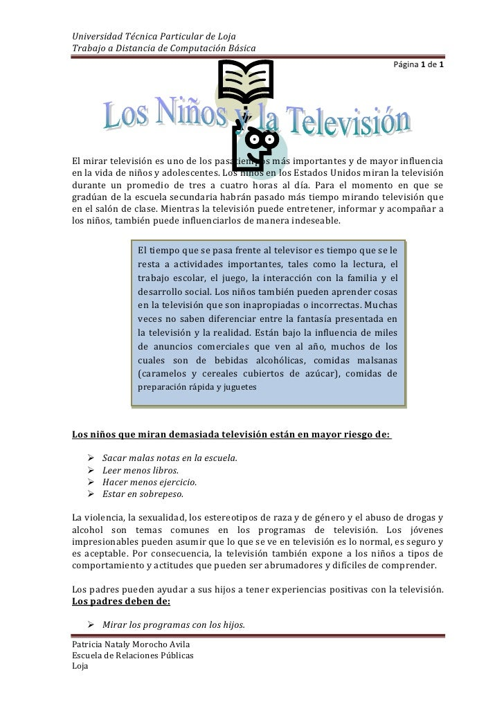 2139315-54483000<br />El mirar televisión es uno de los pasatiempos más importantes y de mayor influencia en la vida de ni...
