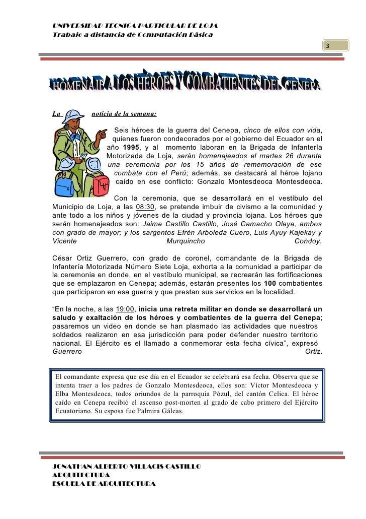 UNIVERSIDAD TECNICA PARTICULAR DE LOJATrabajo a distancia de Computación Básica                                           ...