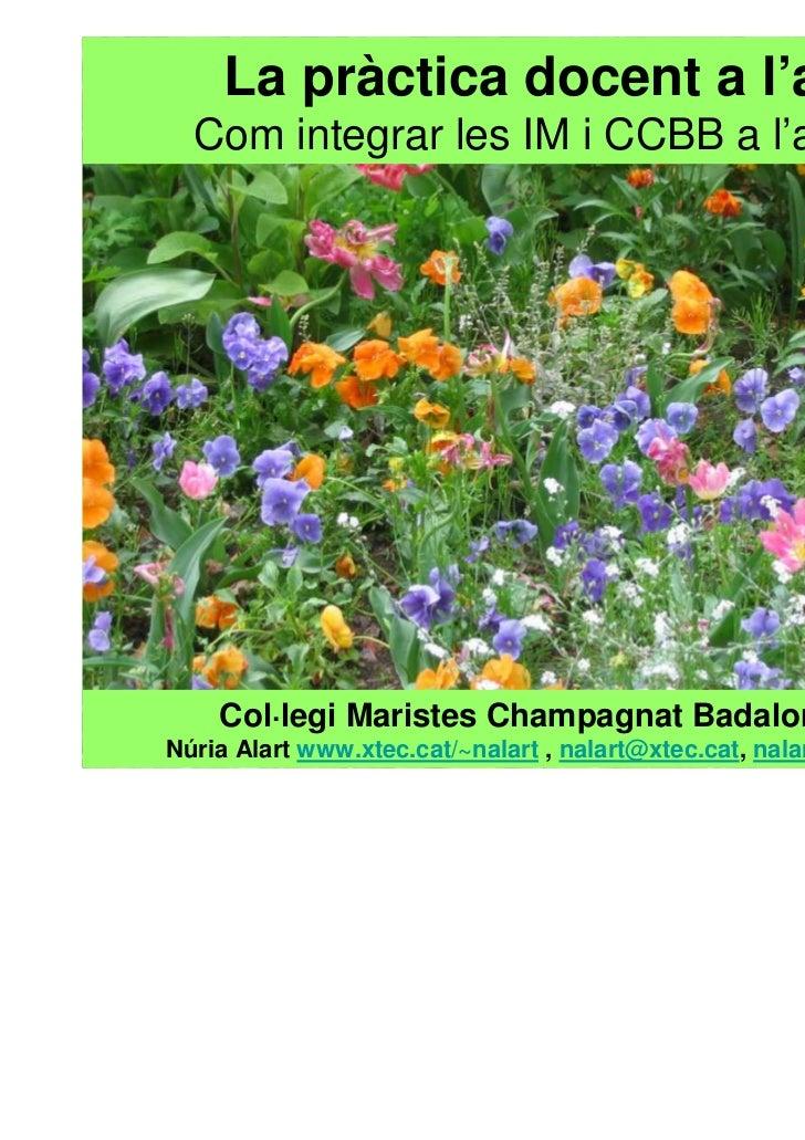 La pràctica docent a l'aula.  Com integrar les IM i CCBB a l'aula 2.0    Col·legi Maristes Champagnat Badalona 2011Núria A...