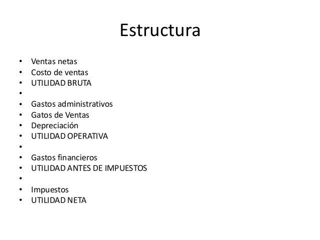 Estado De Resultado Y Su Estructura