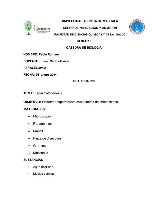 UNIVERSIDAD TECNICA DE MACHALA CURSO DE NIVELACION Y ADMISION FACULTAD DE CIENCIAS QUIMICAS Y DE LA SALUD  SENECYT CÁTEDRA...