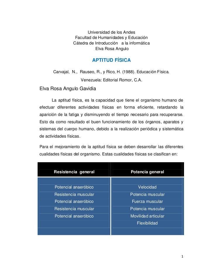 Universidad de los Andes                    Facultad de Humanidades y Educación                   Cátedra de Introducción ...