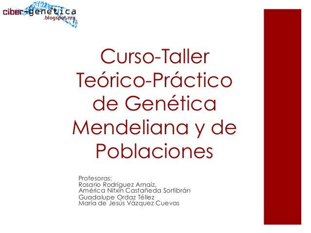 Curso-TallerTeórico-Prácticode GenéticaMendeliana y dePoblacionesProfesoras:Rosario Rodríguez Arnaíz,América Nitxin Castañ...