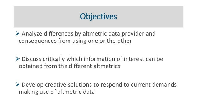 Practical applications of altmetrics Slide 2