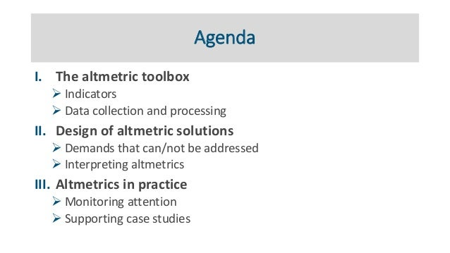 Practical applications of altmetrics Slide 3
