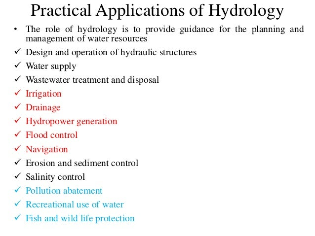 Applications in Hydrology - Colorado State University