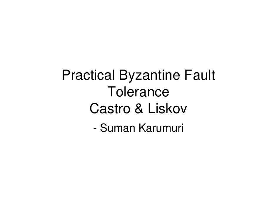 Byzantine fault tolerance consensus