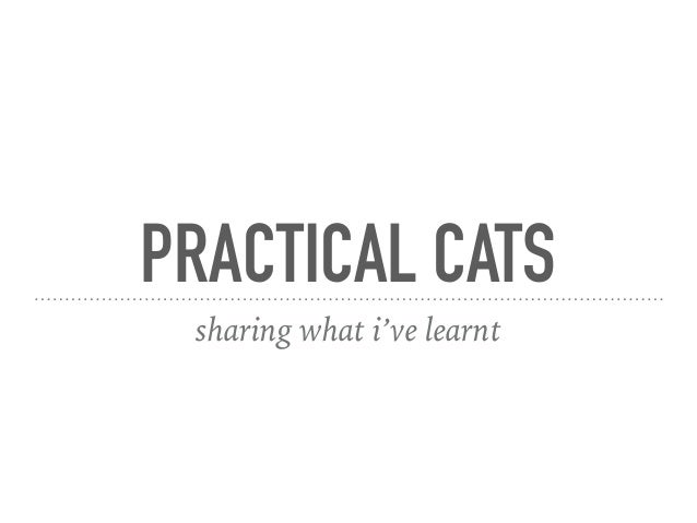 PRACTICAL CATS sharing what i've learnt