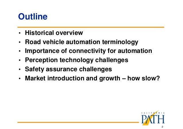 Practical Challenges to Deploying Highly Automated Vehicles Slide 2