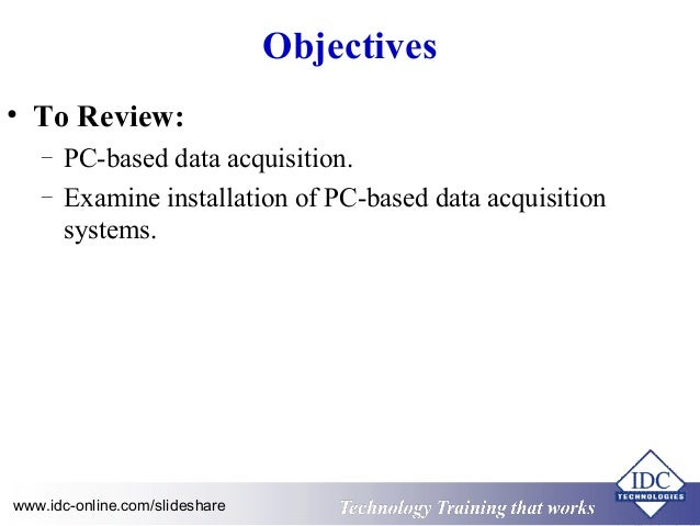Pc Data Acquisition : Practical data acquisition using personal computers and