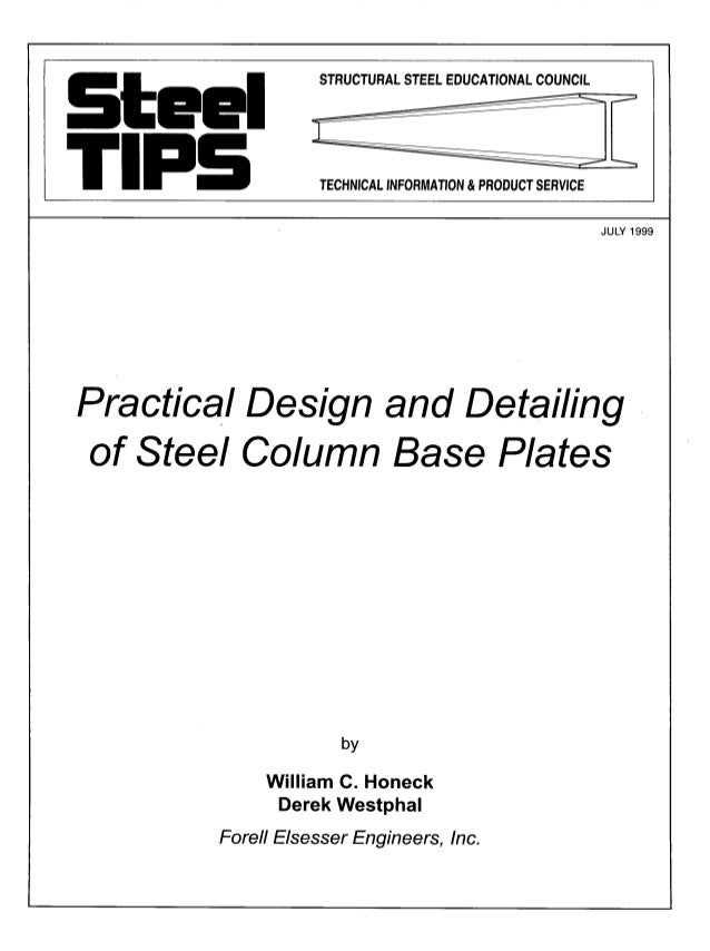 Practical design and_detailing_of_steel_column_base_