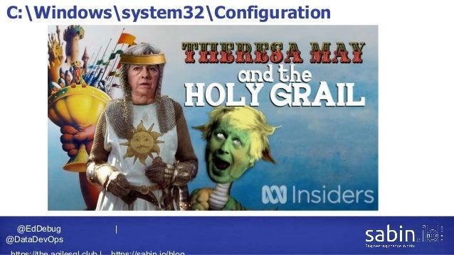 @EdDebug   @DataDevOps C:Windowssystem32Configuration