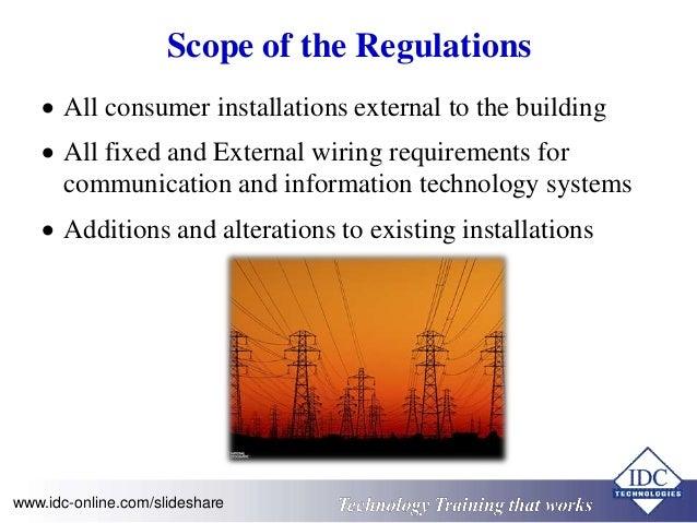 Are Wiring Regulations Statutory on