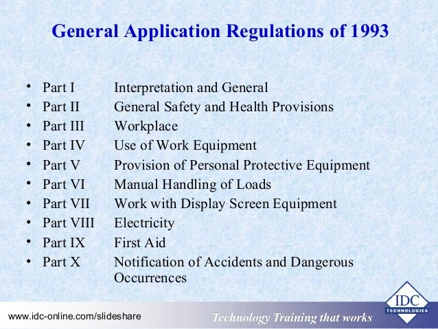 General Requirements For Installation Of Electrical Wiring And ...