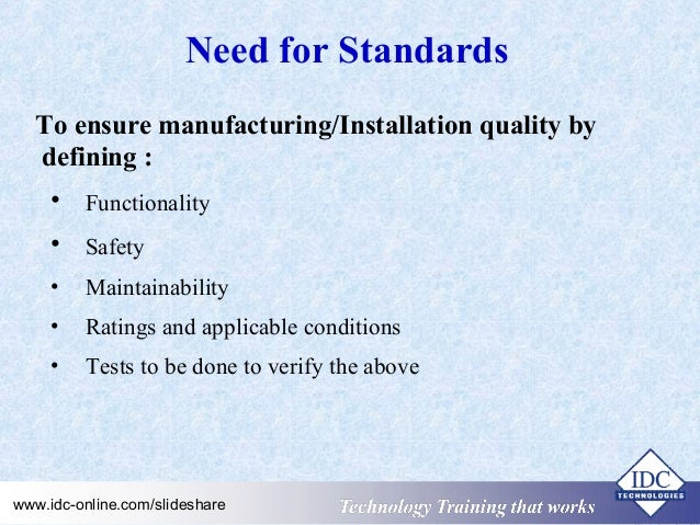 practical electrical wiring standards national rules for electrical rh slideshare net industrial electrical wiring standards standards for electrical wiring
