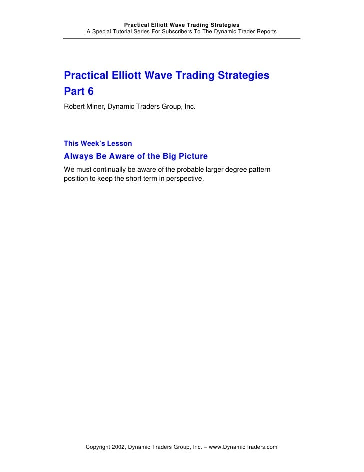 Elliott wave trading principles and trading strategies