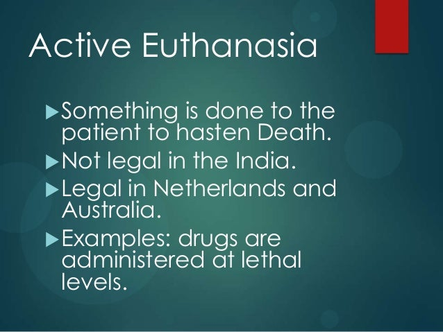 an overview of morality and practicality of euthanasia We will chapter 5 the ethical debate page 77 the ethics of assisted suicide and euthanasia are squarely an overview of a debate morality 11-9-2001 an overview of.