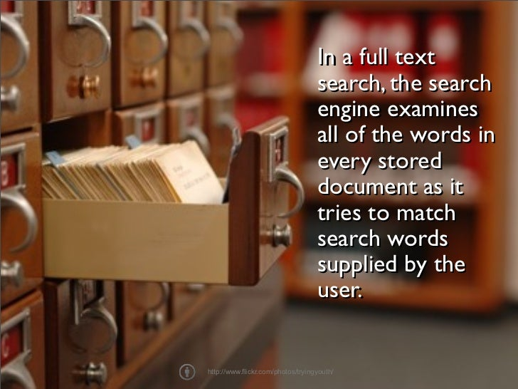 Full Text Search Throwdown Slide 2