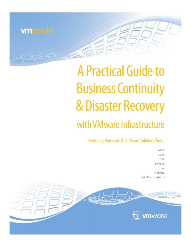 books        A Practical Guide to        Business Continuity        & Disaster Recovery        with VMware Infrastructure ...