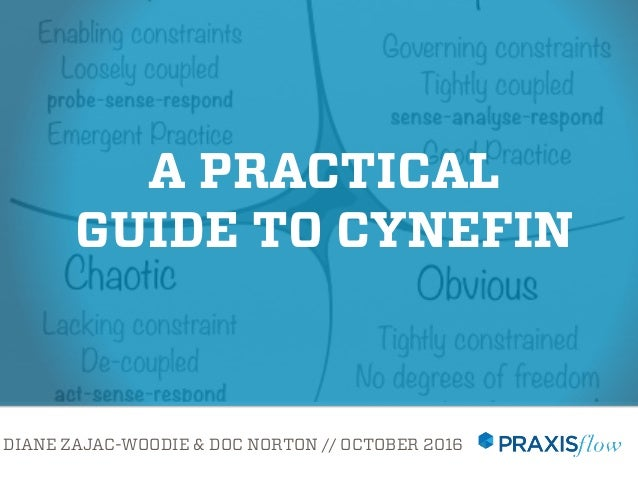 DIANE ZAJAC-WOODIE & DOC NORTON // OCTOBER 2016 Presentedat#lascot16 A PRACTICAL GUIDE TO CYNEFIN