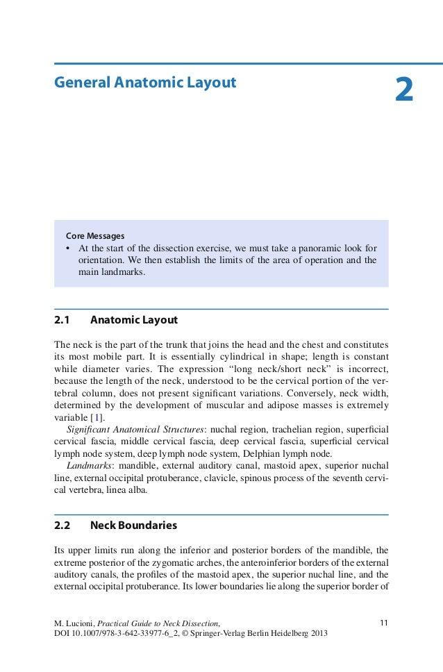 11M. Lucioni, Practical Guide to Neck Dissection,DOI 10.1007/978-3-642-33977-6_2, © Springer-Verlag Berlin Heidelberg 2013...