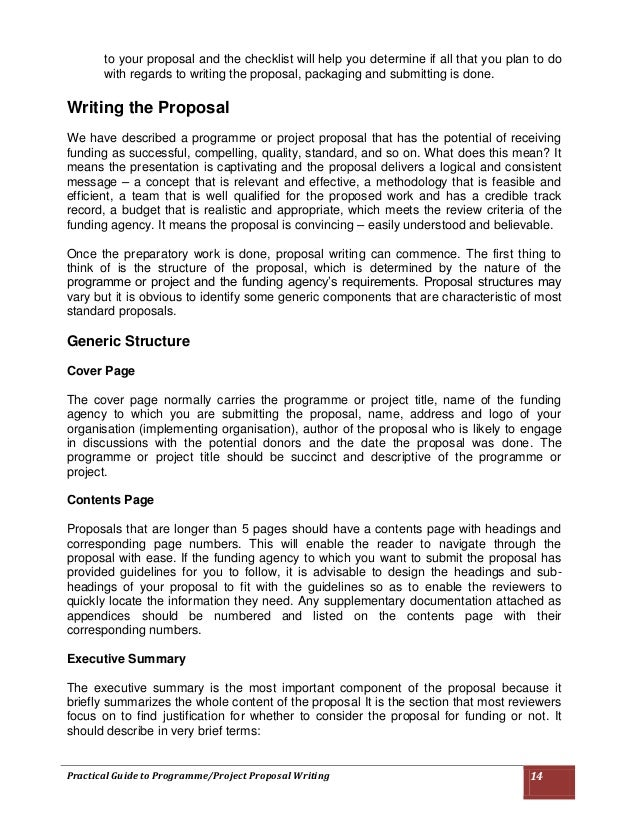 how to write an it project proposal