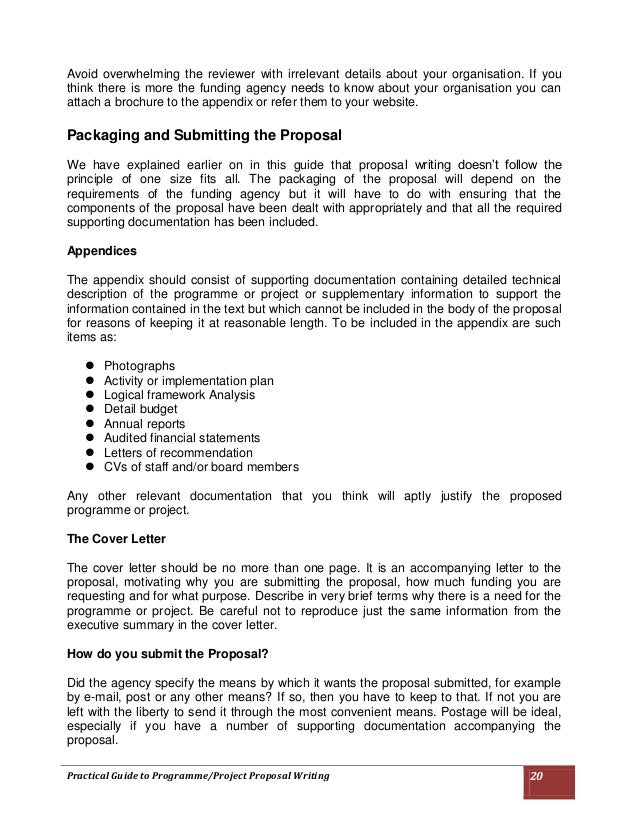 Practical Guide To Programmeproject Proposal Writing