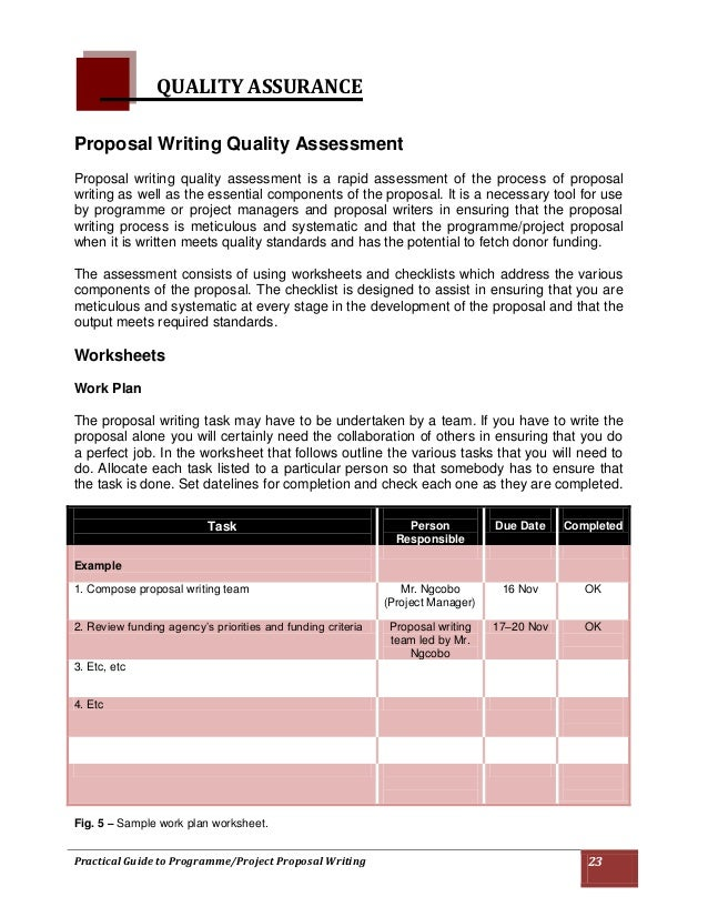 project proposal writing guide pdf