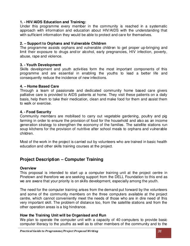 Sample Training Proposal Format Acurnamedia
