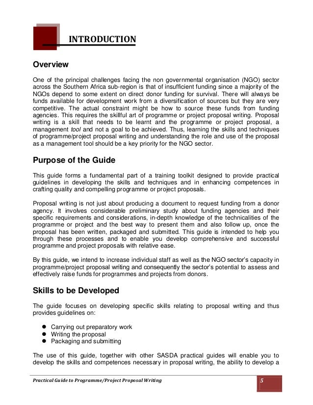 35; 5. Practical Guide To Programme/Project Proposal ...