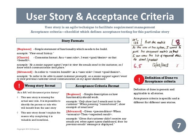 User story template cyberuse for Agile acceptance criteria template