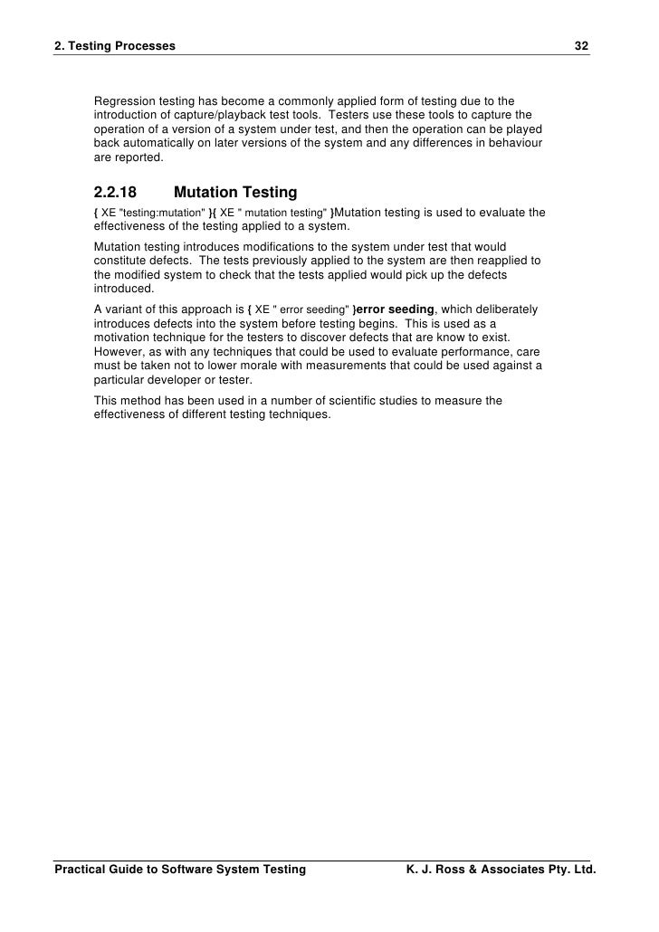 Practical Guide To Software System Testing