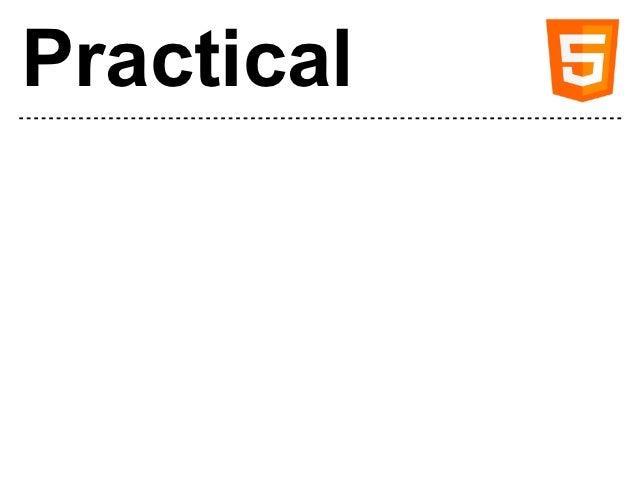 Practical HTML5 Slide 2
