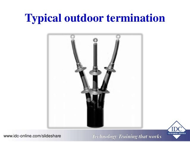 Typical outdoor termination  www.idc-online.com/slideshare Technology Training that Works