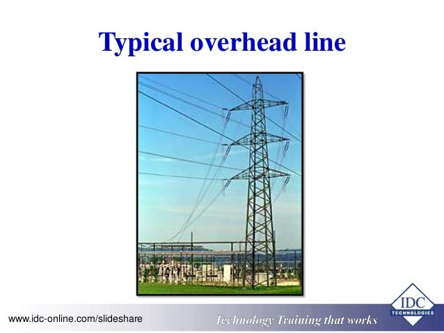Typical overhead line  www.idc-online.com/slideshare Technology Training that Works