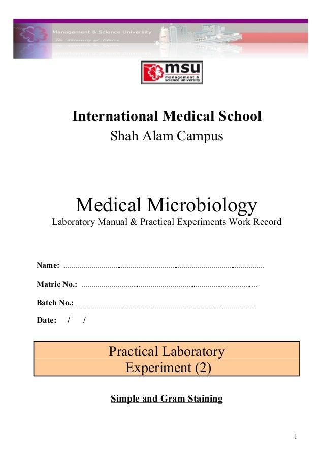 practical lab 2 dr saleh rh slideshare net medical microbiology laboratory manual medical microbiology laboratory manual pdf