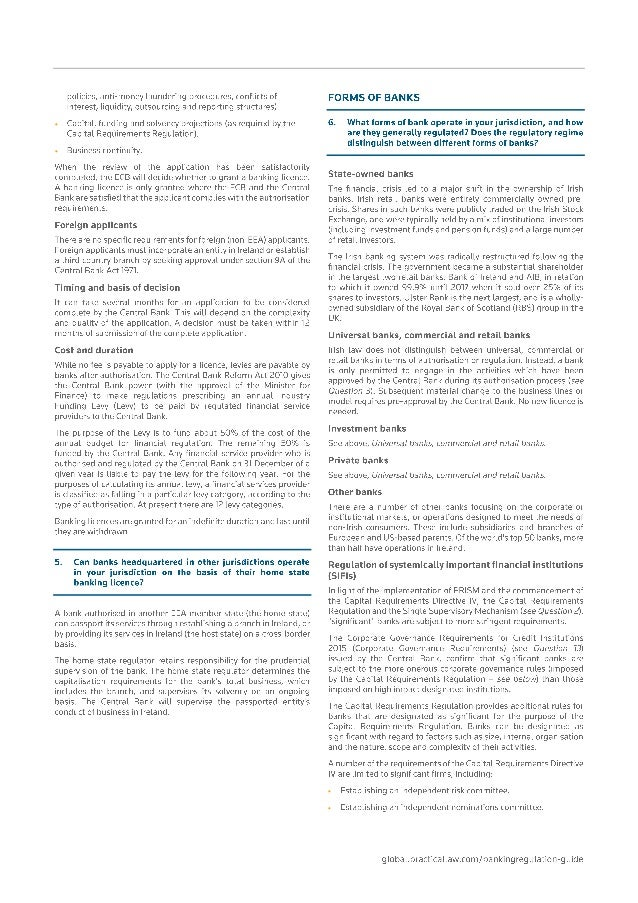 global banking regulations 2018