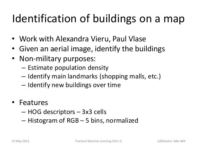 Identification of buildings on a map • Work with Alexandra Vieru, Paul Vlase • Given an aerial image, identify the buildin...