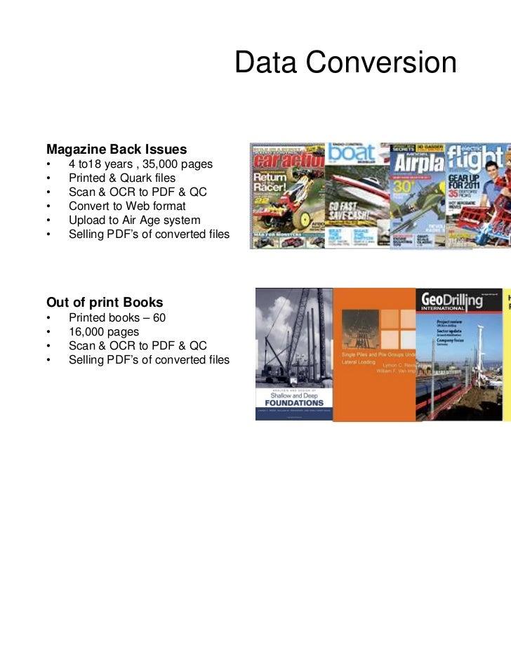 Data ConversionBooks converted toePub'sDigital PublicationsMagazinesBrochuresArticlesCatalogsSell SheetsMarketing Material