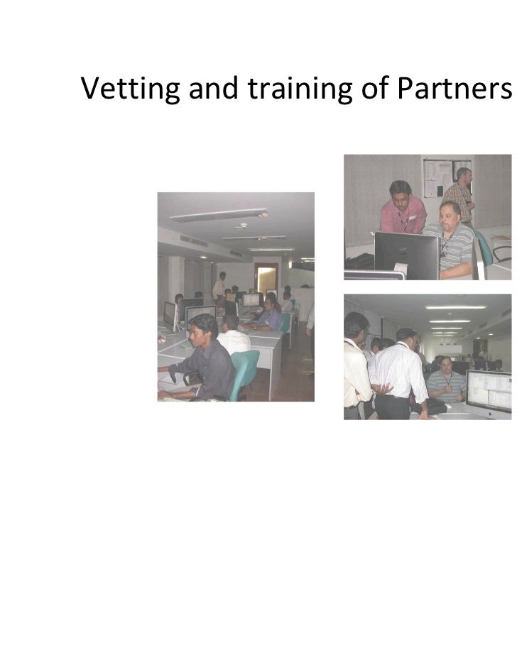 Vetting and training of Partners India