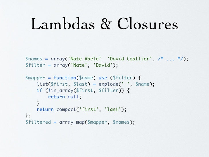 Lambdas & Closures $findActive = function($object) use (&$findActive) {     if ($object->isActive) {         return $objec...