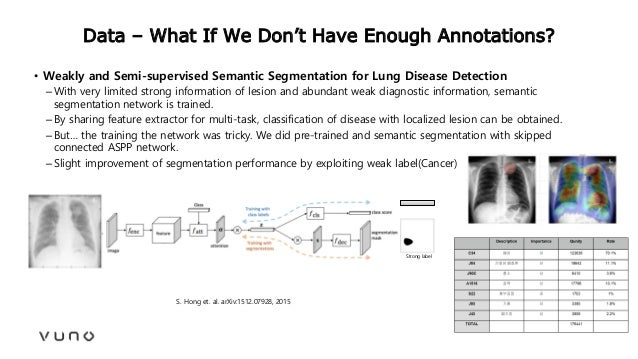 Data – What If We Don't Have Enough Annotations? • Weakly and Semi-supervised Semantic Segmentation for Lung Disease Detec...