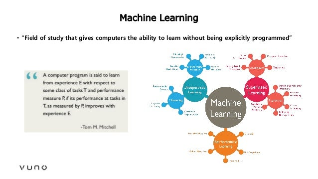 """Machine Learning • """"Field of study that gives computers the ability to learn without being explicitly programmed"""""""