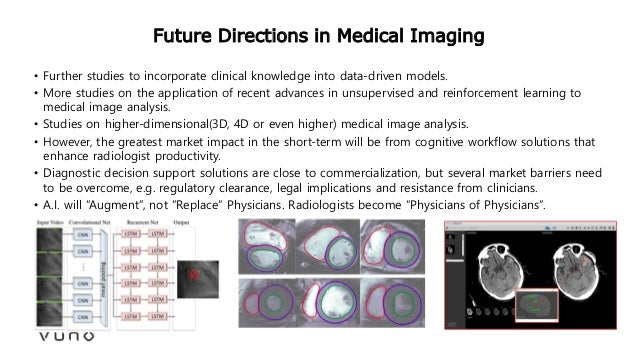 Future Directions in Medical Imaging • Further studies to incorporate clinical knowledge into data-driven models. • More s...