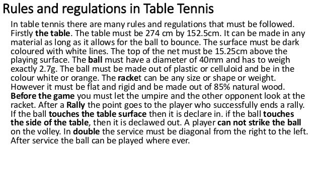 Practical Portfolio Table Tennis