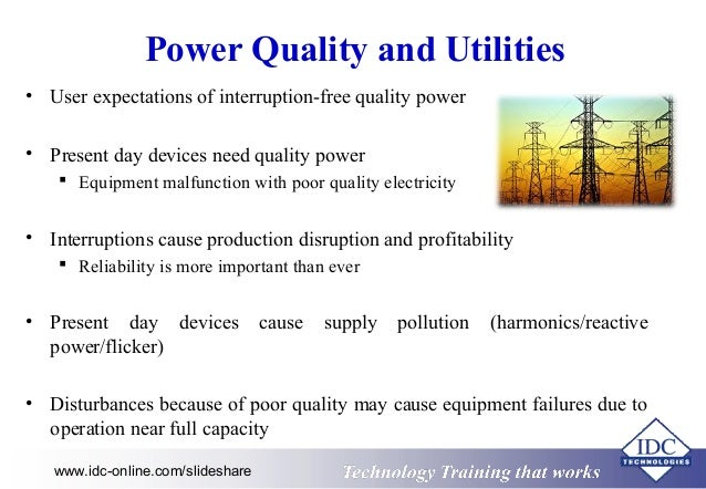 Power Quality In Electrical Systems on