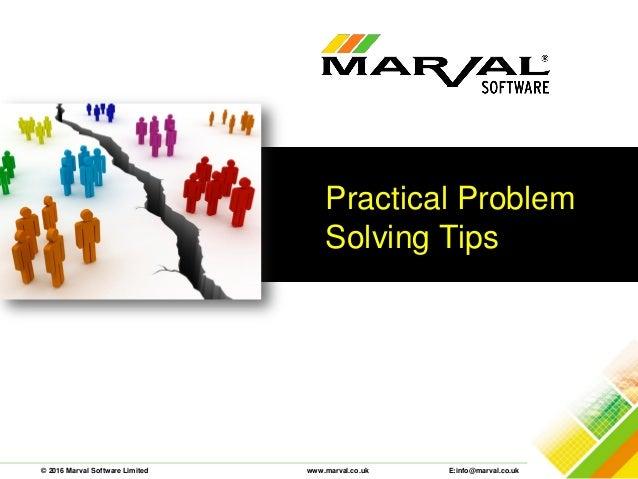 problem solving tips