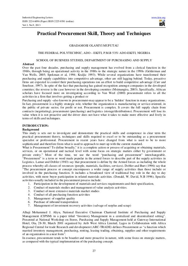 Industrial Engineering Letters ISSN 2224-6096 (Paper) ISSN 2225-0581 (online) Vol.3, No.9, 2013  www.iiste.org  Practical ...